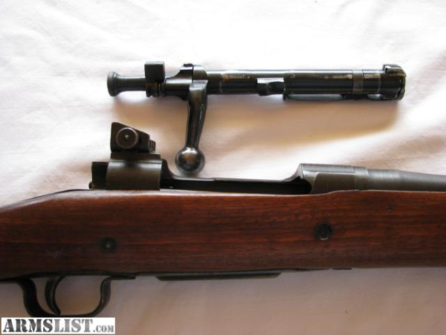 "1903a3 remington 30-06 bolt action,24"" barrel all # match,forarm has been"